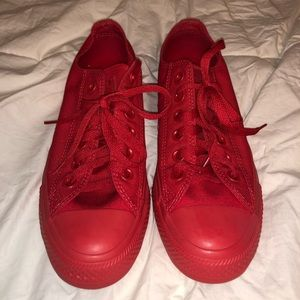 All Red Converse